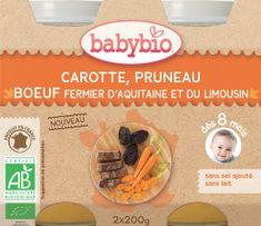 Babybio Mrkev a sušené švestky s hovězím masem 2x200 g
