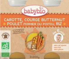 Babybio Mrkev s máslovou dýní, kuřetem a rýží 2x200 g