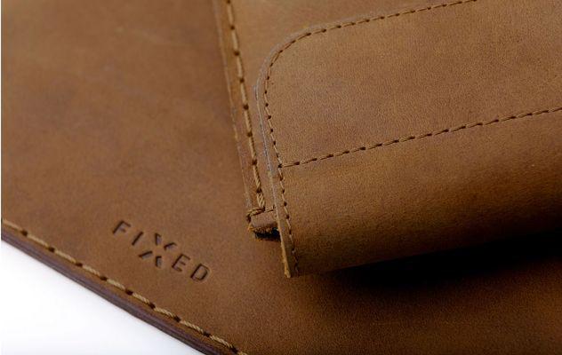 FIXED Oxford pro Apple ipad 9,7 hnědé FIXOX-IPA9-BRW hovězí kůže kvalitní materiál