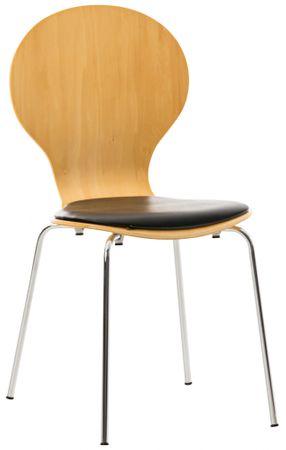 BHM Germany Preglejková jedálenská stolička Dingo, buk/čierna