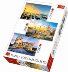 Trefl Puzzle Itálie 1000 + 500 + 500 dílků
