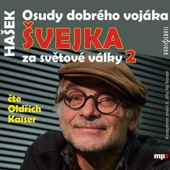 Hašek Jaroslav: Osudy dobrého vojáka Švejka za světové války II. - MP3-CD