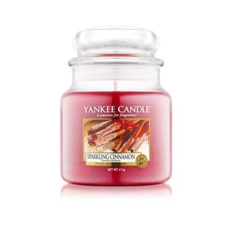 Yankee Candle Świeca Classic średniej Błyszczące cynamonowy (Sparkling Cinnamon) 411 g