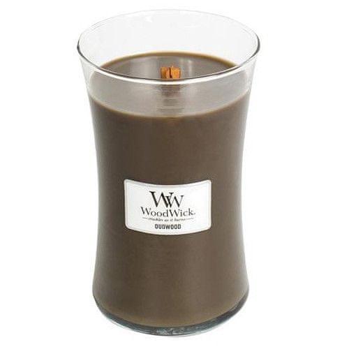 Woodwick Vonná sviečka váza Oudwood 609,5 g