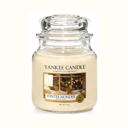 Yankee Candle Téli csoda illatgyertya Classic - közepes (Winter Wonder) 411 g