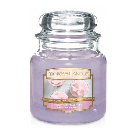 Yankee Candle Aromatična sveča srednje Sladka jutranja vrtnica 411 g