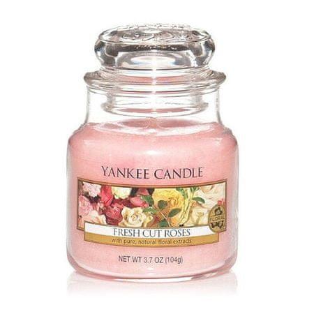 Yankee Candle Aromatična sveča Classic majhne Fresh rezano vrtnice 104 g