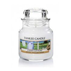 Yankee Candle Illatgyertya a pamut tiszta illattával Classic (Clean Cotton) 104 g - kicsi