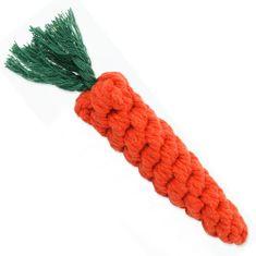 Dog Fantasy mrkva, uže za igranje za psa, 20 cm