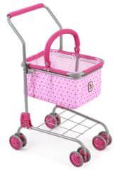 Bayer Chic wózek na zakupy z koszykiem - Pink Dots