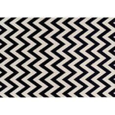 Koberec, slonovinová/tmavosivá, 67x120, ADISA
