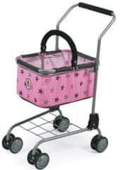 Bayer Chic Nákupní vozík s košíkem Hvězdičky šedivé