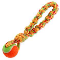 Dog Fantasy Preťahovadlo farebné + tenisák 28 cm