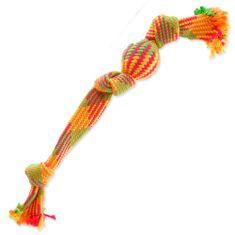 Dog Fantasy Preťahovadlo farebná lopta 3 knôty 50 cm