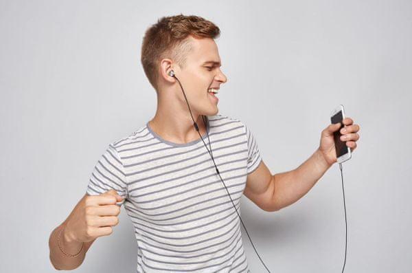 kabelová sluchátka 1more piston earphone in ear headphones kabelové připojení odolný kabel 3,5mm jack zlacený konektor vyvážený zvuk kabel s kevlarem 125 cm délka ergonomické tvarování