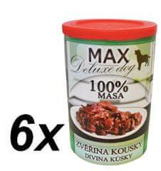 MAX Deluxe zvěřina kousky 6x400g