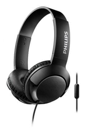 Philips SHL3075BK slušalke Bass+, črne