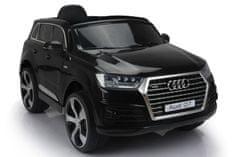 Beneo Elektrické autíčko Audi Q7, čierne, EVA kolesá, Jednomiestne sedadlo, 12V, 2,4 GHz DO, 2XMOTOR, USB