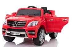 Beneo Elektrické autíčko Mercedes-Benz ML350, Plastové sedadlo, odpružené nápravy, USB/SD Vstup, Batéria