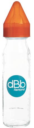 DBB Remond butelka dziecięca szklana 240 ml, smoczek silikonowy 0-4 m-ca