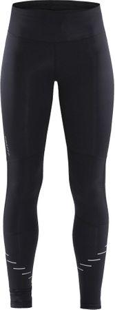 Craft Luman Urban Tights zimske ženske hlače za trčanje, S, crne s printom