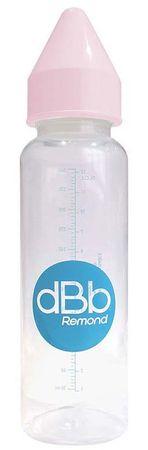 DBB Remond Gyerek cumisüveg PP 360 ml, kaucsuk cumi 4+ hónap, rózsaszín