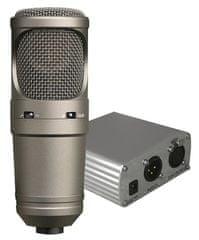 DEXON  MC 700 + HZ 50 sestava studiového mikrofonu a zdroje fantomového napětí