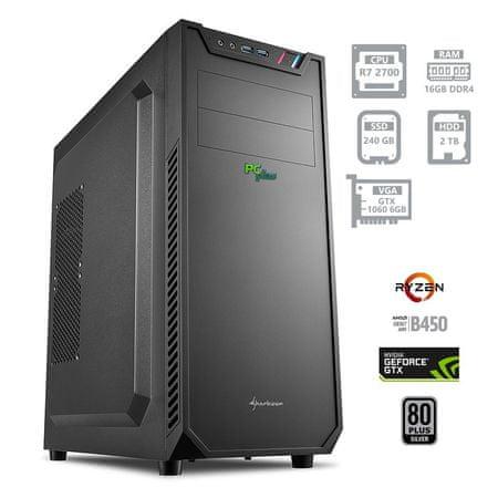 PCplus namizni gaming računalnik Dream machine Ryzen 7 2700/16GB/SSD240GB+2TB/GTX1060/FreeDOS (137724)