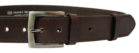 Penny Belts Férfi bőr öv 25-1-40 Brown (A hossza szalag 90 cm)