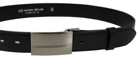 Penny Belts Moški usnjeni pas za stranke 35-020-1PS-60 Črn (Dolžina traku 100 cm)