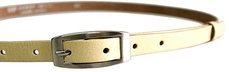 Penny Belts Ženski usnjeni pas 15-2-02 Bež (Dolžina traku 100 cm)