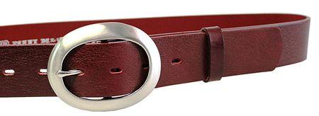 Dámský kožený opasek 11895 Tmavě Červený (Délka pásku 85 cm)