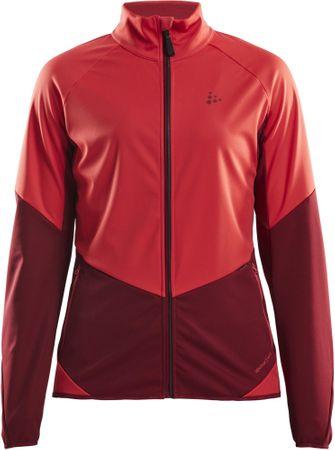 Craft Glide softshell jakna, S, rdeča