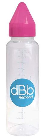 DBB Remond Dětská lahvička PP 360 ml, silikonová savička 4+ měs. růžová
