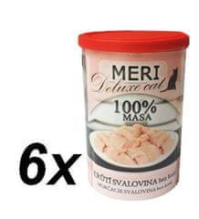 FALCO karma dla kotów MERI deluxe mięso indycze bez kości, 6 x 400 g