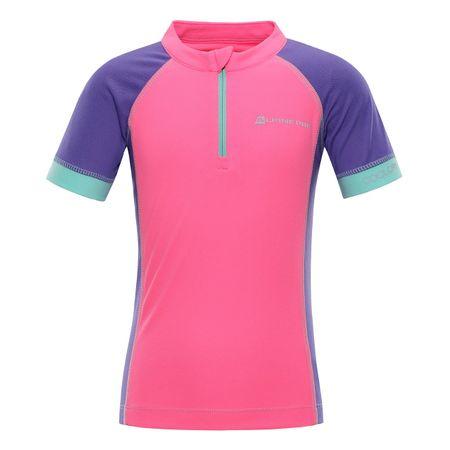 ALPINE PRO koszulka dziewczęca Sorano 104 - 110 różowa