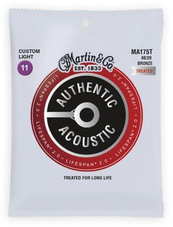 Martin Authentic Lifespan 2.0 80/20 Bronze Custom Light Kovové struny pro akustickou kytaru