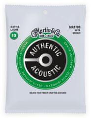 Martin Authentic Marquis 80/20 Bronze Extra Light Kovové struny pro akustickou kytaru
