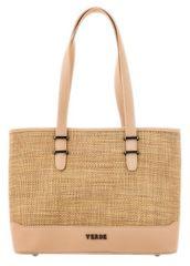 Verde Dámska kabelka 16-4989 Straw Beige