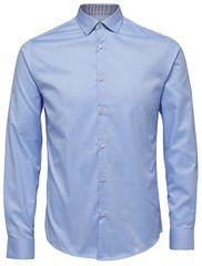 Selected Homme Pánska košeľa SlimNew-Mark Shirt Ls B Noos Light Blue