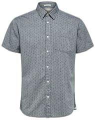 Selected Homme Pánska košeľa Slimmatthew Shirt Ss Aop W Smoked Pearl