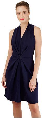 Closet London Dámske šaty Closet Centre Pleats A-Line Dress Navy (Veľkosť S)