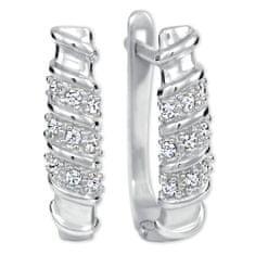 Brilio Silver Jemné stříbrné náušnice s krystaly 436 001 00499 04 stříbro 925/1000