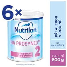 Nutrilon 2 HA PROSYNEO špeciálne pokračovacie dojčenské mlieko 6x800 g, 6+