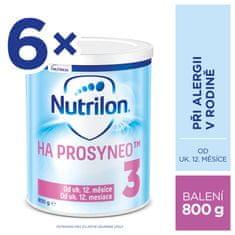 Nutrilon 3 HA PROSYNEO špeciálne mlieko pre malé deti 6x800 g, 12+
