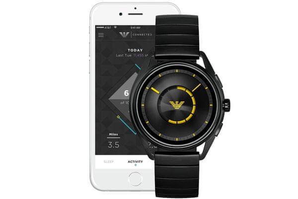chytré hodinky smartwatch armani art5007 bluetooth android ios krokoměr srdeční tep spálené kalorie zobrazení notifikací nfc technologie google assistant