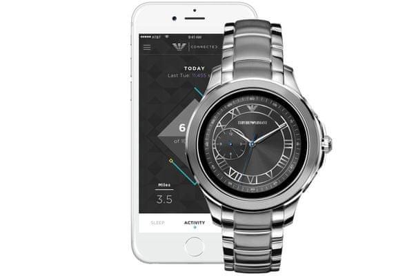 smartwatch armani art5010 dotykowa tarcza lcd szybkie i łatwe sterowanie wyrazista krawędź designerski styl markowy wymienny pasek uchylna klamra
