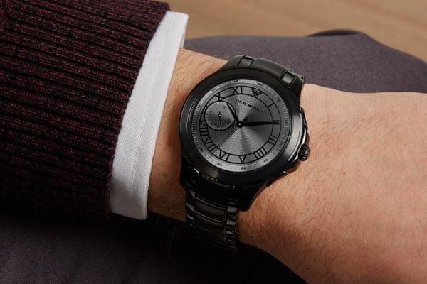chytré hodinky smartwatch armani art5011 lcd dotykový ciferník rychlé a snadné ovládání výrazný okraj designové styl značkové vyměnitelný řemínek sklopná spona