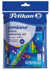 Pelikan Súprava Combino - maľovanky + 12 farbičiek