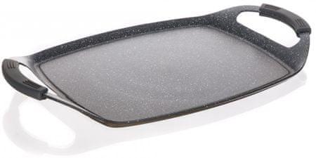 Banquet GRANITE Dark Brown plošča za žar, 47 × 28 cm, siva